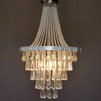French Empire Basket Crystal Pendant Chandelier - Olivia