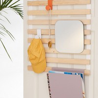 Keane Multi-Use Slatted Over-The-Door Storage Rack | Urban Outfitters