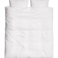 H&M - King/Queen Duvet Set - White