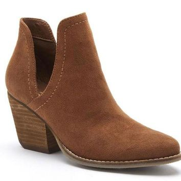 DCCKAB3 Coconuts by Matisse Trader Saddle Deep V Cut-Out Booties