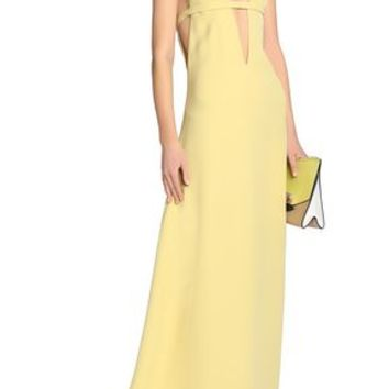 Bow-detailed cutout silk-crepe gown | VALENTINO | Sale up to 70% off | THE OUTNET