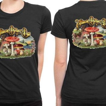 DCCKG72 Allman Brothers Band Discography 2 Sided Womens T Shirt
