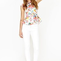 Full Bloom Peplum Top