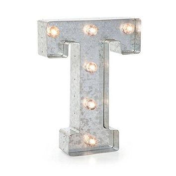 """Darice 5915-720  Silver Metal Marquee Letter 9.875""""-T"""