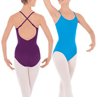 Eurotard Microfiber Camisole Leotard with Fully Adjustable Straps - Adult