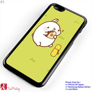 kawaii molang - Personalized iPhone 7 Case, iPhone 6/6S Plus, 5 5S SE, 7S Plus, Samsung Galaxy S5 S6 S7 S8 Case, and Other
