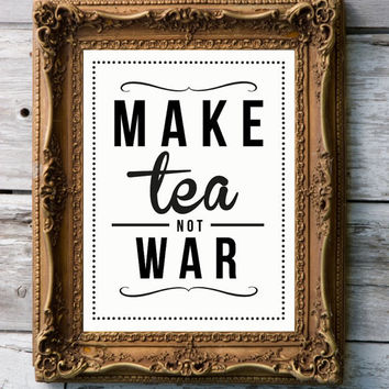 Retro Art Print 'Tea' by RockTheCustardPrints
