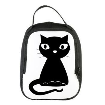 Black Cat Neoprene Lunch Bag> Black Cat> cuteness