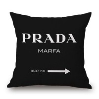 Fashion Black Marfa Decorative Pillow