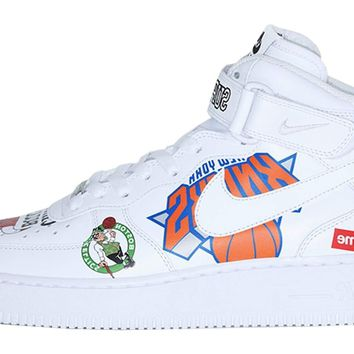 BC QIYIF Supreme x Nike Air Force 1 NBA White