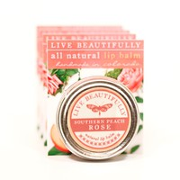 Southern Peach Rose - Hydrating Lip Balm Tin