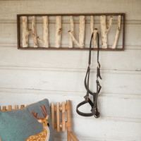 Metal Birch Coat Rack