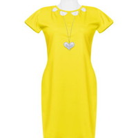 Yellow Chest Cutout Dress