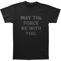 Star Wars Men's  May The Slim Fit T-shirt Black Rockabilia