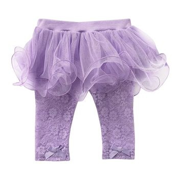 Baby Starters Floral Lace Tutu Leggings - Baby