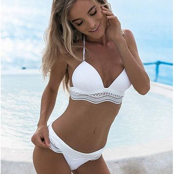 Bikini Set beach body Rhyme Lady Women sexy  girls Beach Bathing Suit Swimsuit Push Up 2018 high waist Swimwear brazilian swimming suit