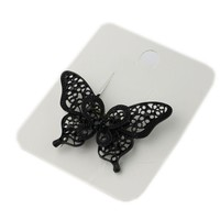 Europe and America headdress black butterfly hair rope elastic headband hairband hipster hair accessories simple hairpin flower hair ring HJ