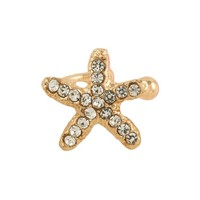 Starfish Charm Cuff Studded Earrings For Women