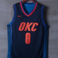 Oklahoma City Thunder #0 Russell Westbrook Nike Statement Edition NBA Jerseys - Best Deal Online
