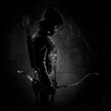 Green Arrow poster Metal Sign Wall Art 8in x 12in Black and White