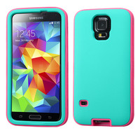 MYBAT VERGE Hybrid Case for Samsung Galaxy S5 - Teal/Glowing Pink