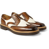 GucciLeather and Canvas Brogues|MR PORTER