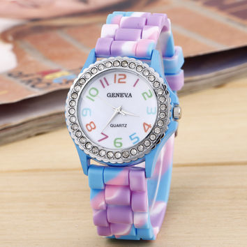 Rainbow Gradient Silicone Watch