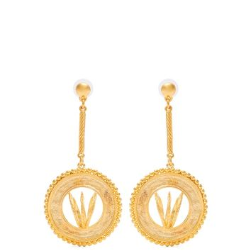 Diane gold-plated disc-drop earrings | Emilia Wickstead | MATCHESFASHION.COM US