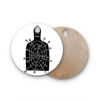 "BarmalisiRTB ""Arch Arrow"" Target Round Wooden Cutting Board"