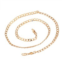 New Fashion MEN Stainless Steel Gold Cuban Curb Link Chain Necklace Golden man titanium necklace #45