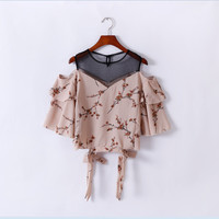 Women's Fashion Lace Floral Strapless Tops [10013379405]