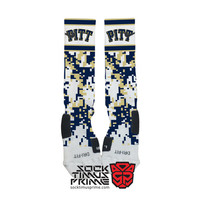 Custom Nike Elite Socks - Pitt Panthers Custom Nike Elites - Pittsburgh, Custom Elites, Pitt Socks, Panthers Socks