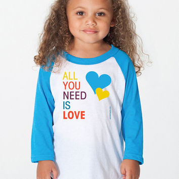 All You Need Is Love - Kids Jersey - FREE SHIPPING