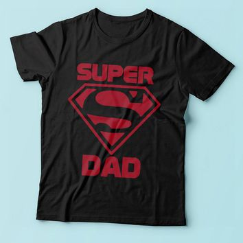 Superman Super Dad Fathers Day Gift Superhero Men'S T Shirt