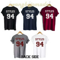 Harry Styles Shirt Styles 94 Date of Birth Back Side Unisex Tshirt