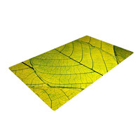 "Robin Dickinson ""Every Leaf a Flower"" Woven Area Rug, 2' x 3' - Outlet Item"