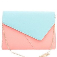 Color-Block Envelope Clutch  - Diva Hot Couture