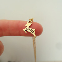 "You CHOOSE SILVER/GOLD Severus Snape ""Always"" Doe Patronus Necklace - Harry Potter & The Deathly Hallows Inspired Geekery"
