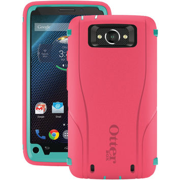 Otterbox Droid Turbo By Motorola Defender Series Case (teal Rose Ii)