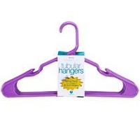 Purple Plastic Tubular Hangers, 8-ct. Packs at Deals