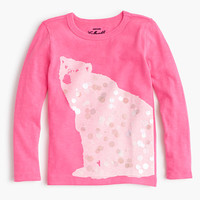 Girls' sequin polar bear T-shirt