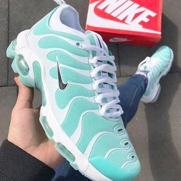 Nike Air Max Plus TN Trending Men Woman Personality Running Sneakers Sport Shoes Mint Green White(Black Hook)