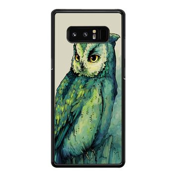 Green Owl Samsung Galaxy Note 8 Case