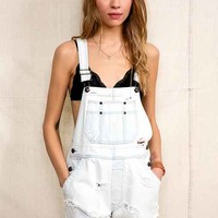 Urban Renewal Washed-Out Denim Overall Short- White