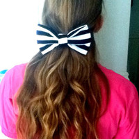 Black and White Big Hair Bow