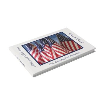 Retirement Party Sign-In Book, American Flags Guest Book