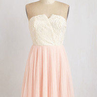 ModCloth Fairytale Short Length Strapless A-line Tulle Lovely for Words Dress
