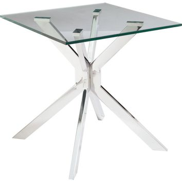 Tista End Table Glass & Chrome