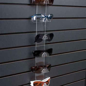 Slatwall Sunglass Display, Holds 6 Pairs - Clear Acrylic