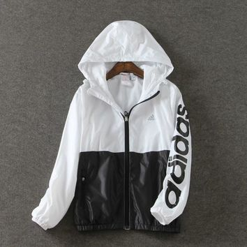Fashion Adidas Hoodied Zipper Cardigan Coat Jacket